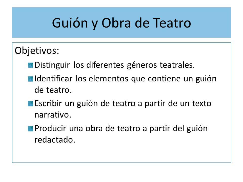 Gui n y obra de teatro objetivos ppt video online descargar for La cocina obra de teatro