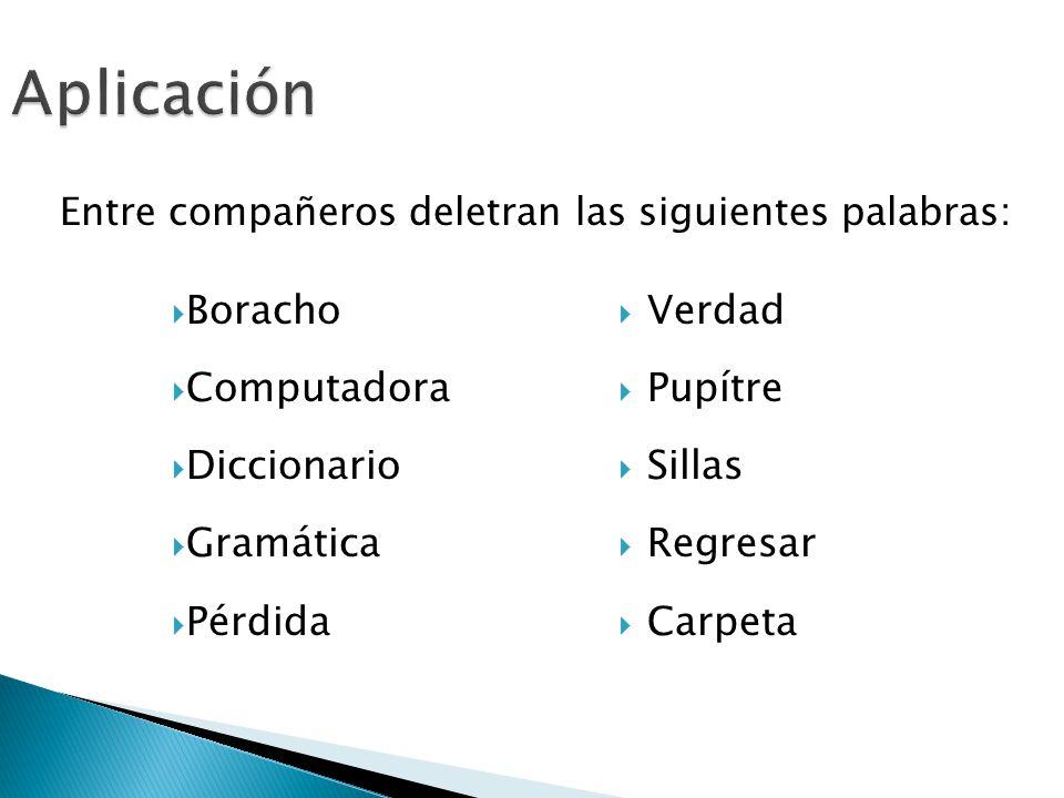 Aplicación Boracho Computadora Diccionario Gramática Pérdida Verdad
