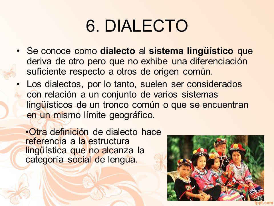 6. DIALECTO