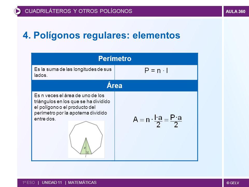 4. Polígonos regulares: elementos