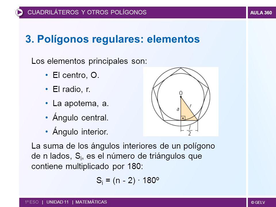 3. Polígonos regulares: elementos