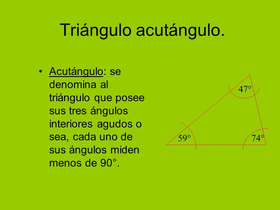 Triángulo acutángulo.