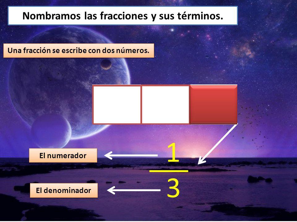 1 3 Nombramos las fracciones y sus términos.