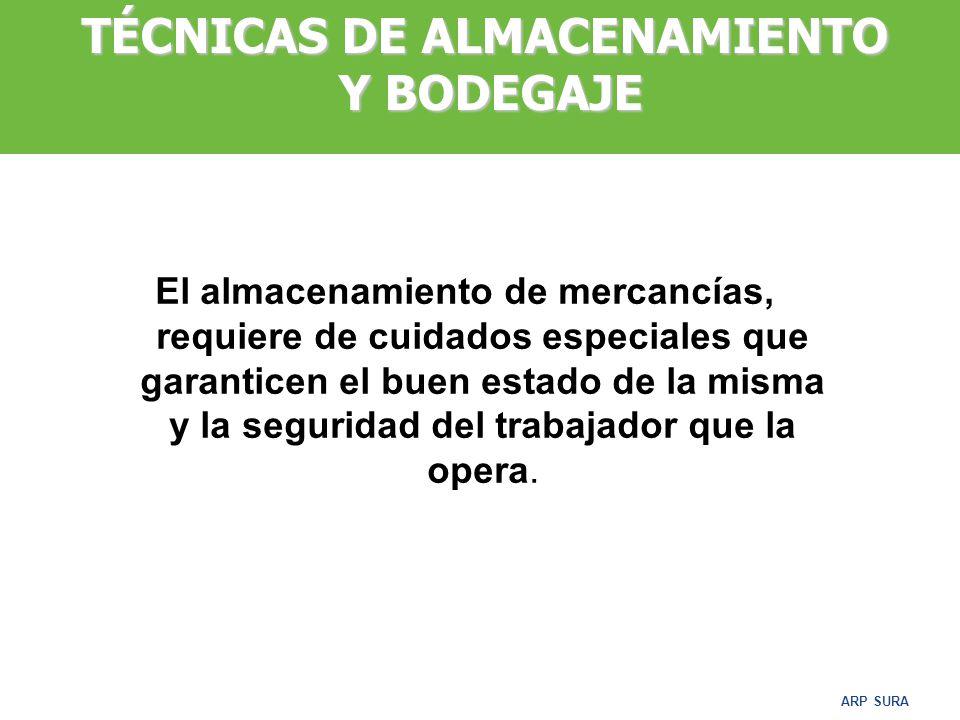 TÉCNICAS DE ALMACENAMIENTO