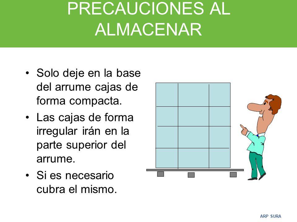 PRECAUCIONES AL ALMACENAR