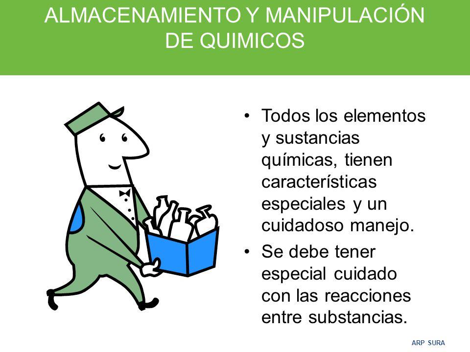 ALMACENAMIENTO Y MANIPULACIÓN DE QUIMICOS
