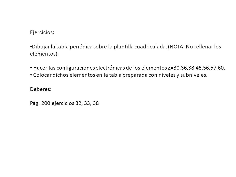 Corregir definir y poner ejemplos nmero atmico nmero msico ejercicios dibujar la tabla peridica sobre la plantilla cuadriculada nota no rellenar urtaz Image collections