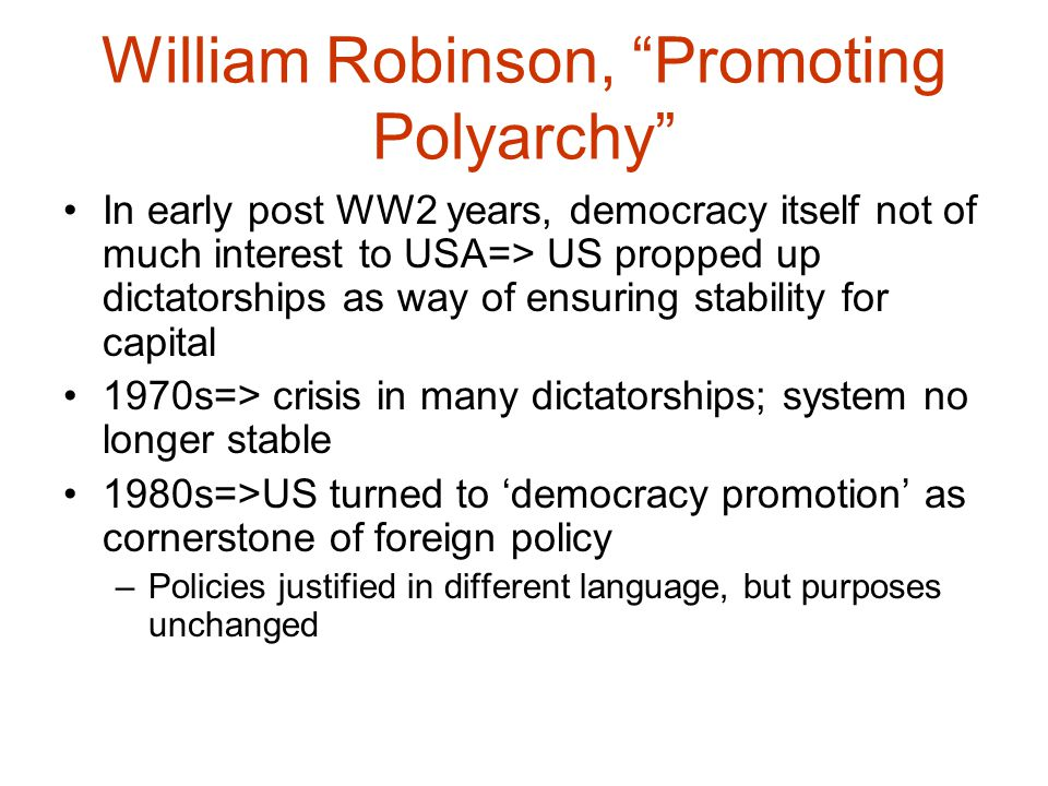 democracy promotion in us foreign policy essay This timely book by thomas carothers, one of the foremost authorities worldwide on democracy building, helps meet that need critical mission draws together a wide-ranging set of carothers's many seminal, widely cited essays, organized around four vital themes: the role of democracy promotion in us foreign policy the.
