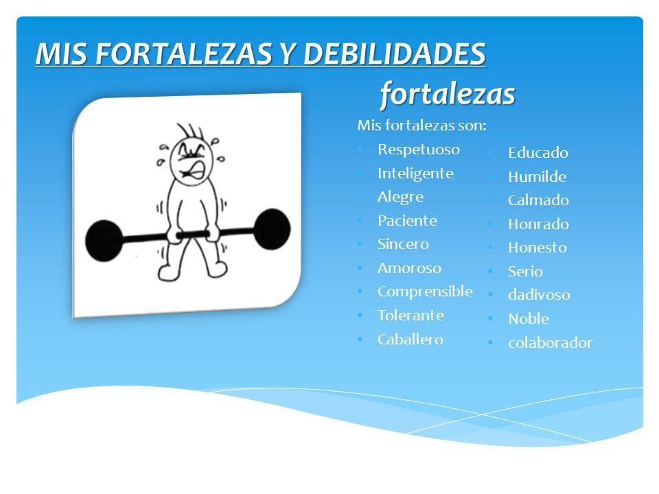 MIS FORTALEZAS Y DEBILIDADES
