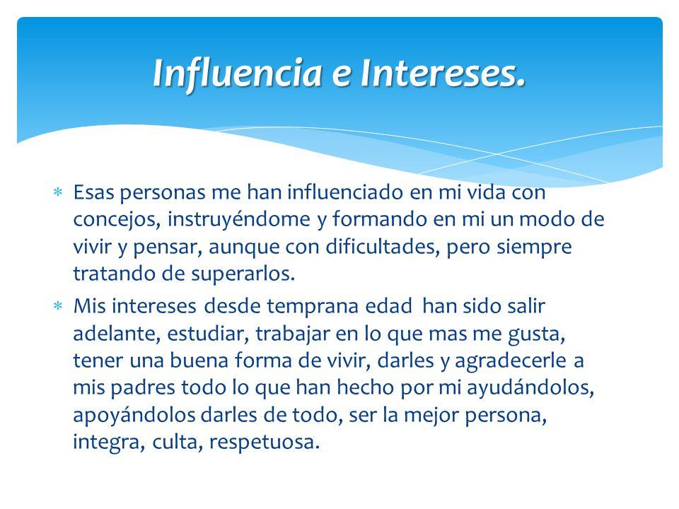 Influencia e Intereses.