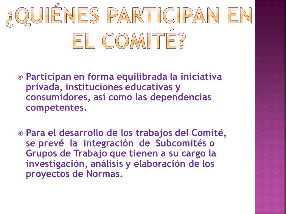 ¿QUIÉNES PARTICIPAN EN EL COMITÉ