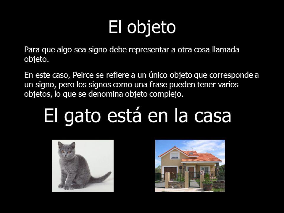 Modelo de signo peirce y saussure ppt video online - El gato en casa ...