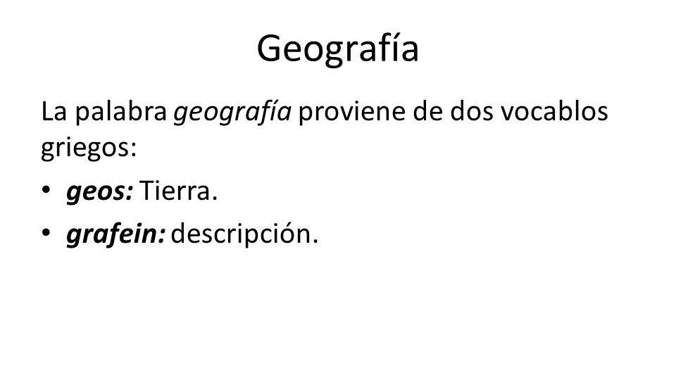 Evoluci n del pensamiento geogr fico ppt video online for De que lengua proviene la palabra jardin