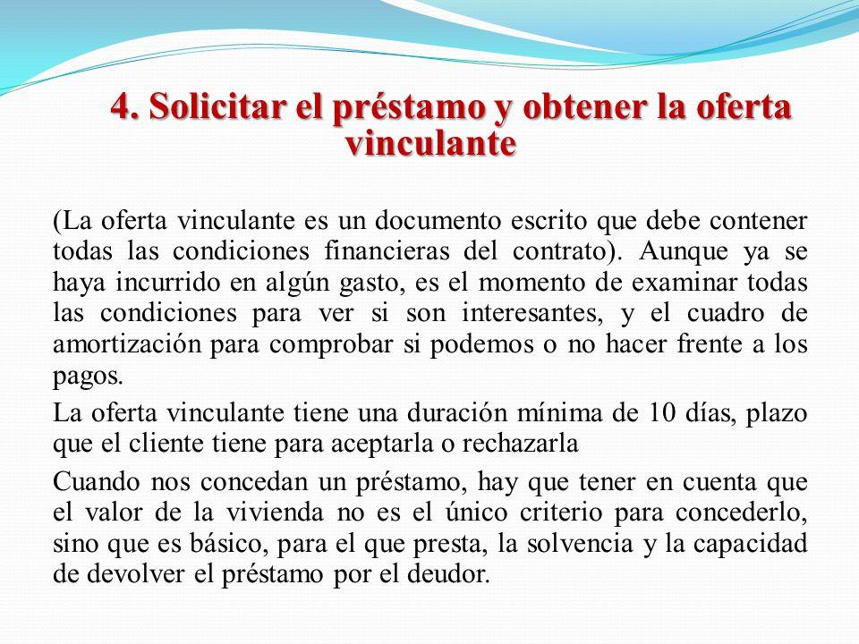 Obligacion oferta vinculante prestamo hipotecario - Pedir un prestamo hipotecario ...