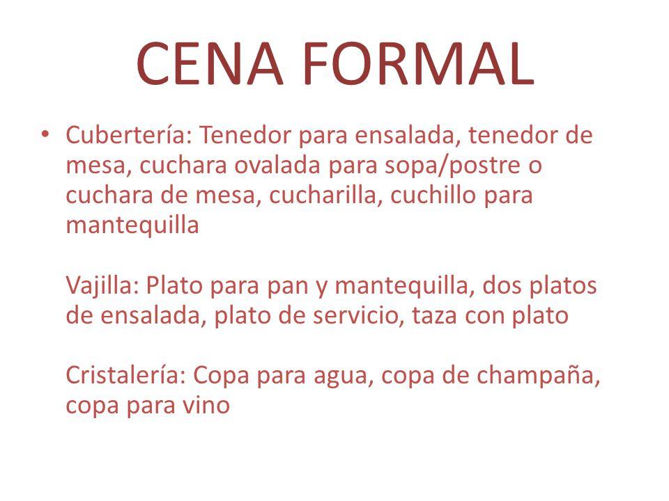 CENA FORMAL