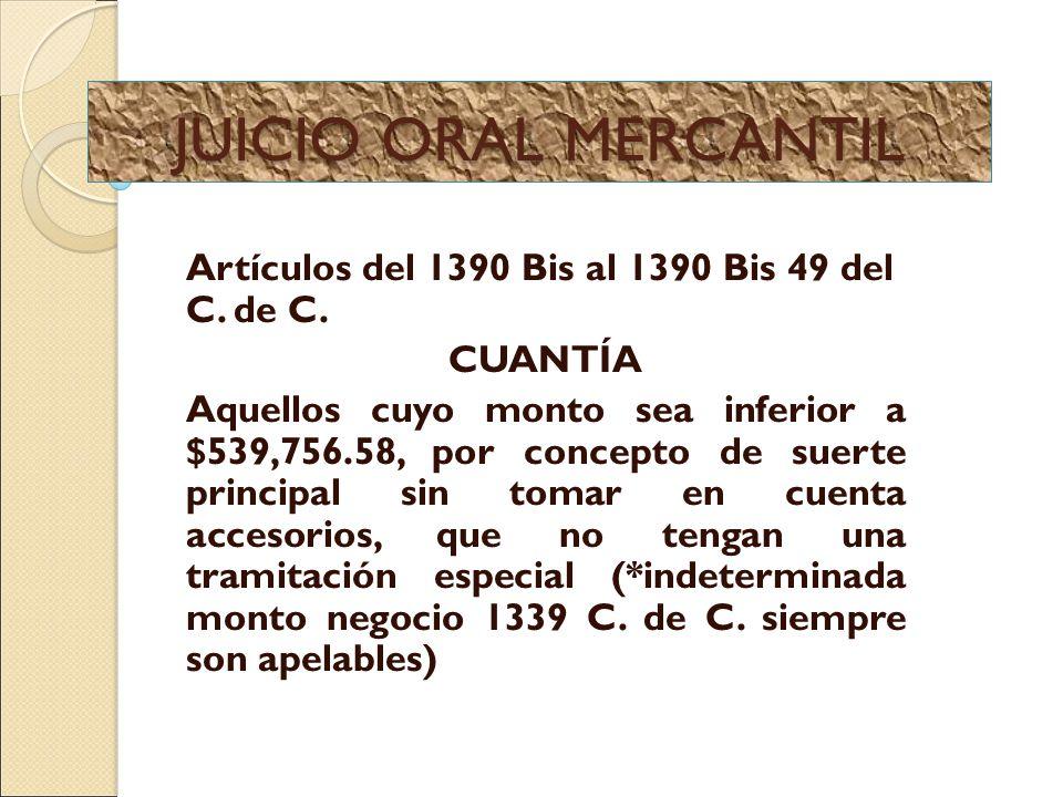 Juicio oral mercantil artculos del 1390 bis al 1390 bis 49 del c 1 juicio oral ccuart Choice Image