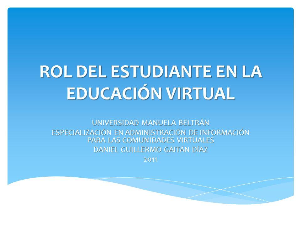 Rol del estudiante en la educaci n virtual ppt video for Oficina del estudiante universidad de la rioja
