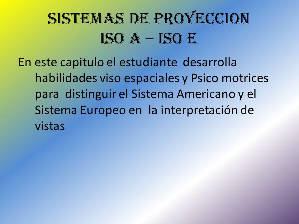 SISTEMAS DE PROYECCION ISO A – ISO E