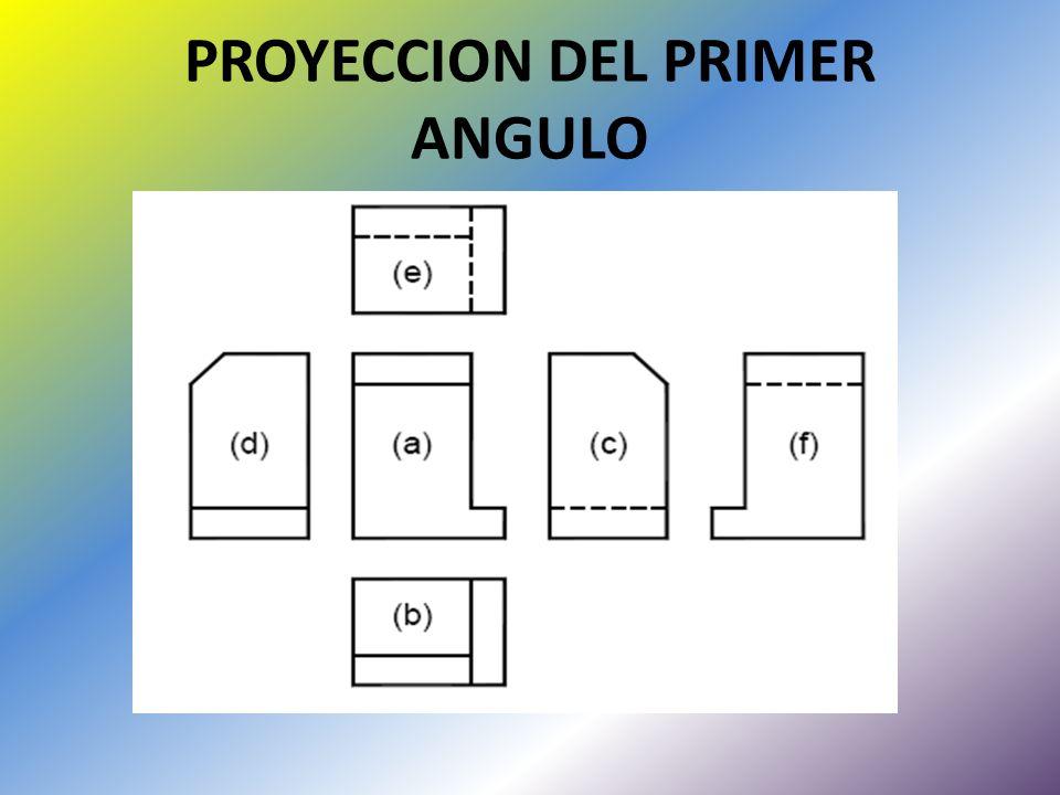 PROYECCION DEL PRIMER ANGULO
