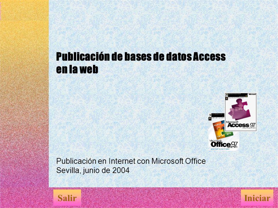 Publicación de bases de datos Access en la web