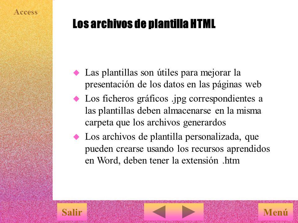 Los archivos de plantilla HTML