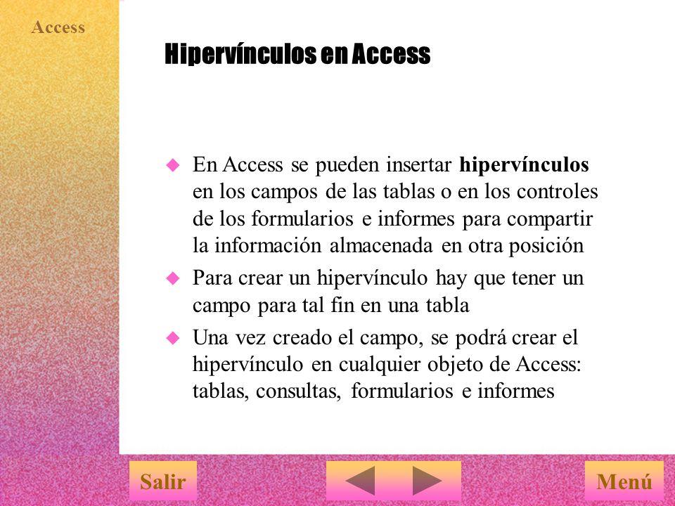 Hipervínculos en Access
