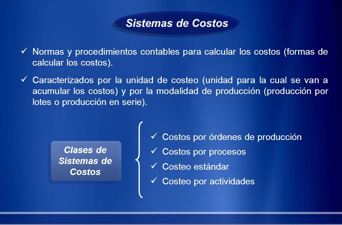 Clases de Sistemas de Costos