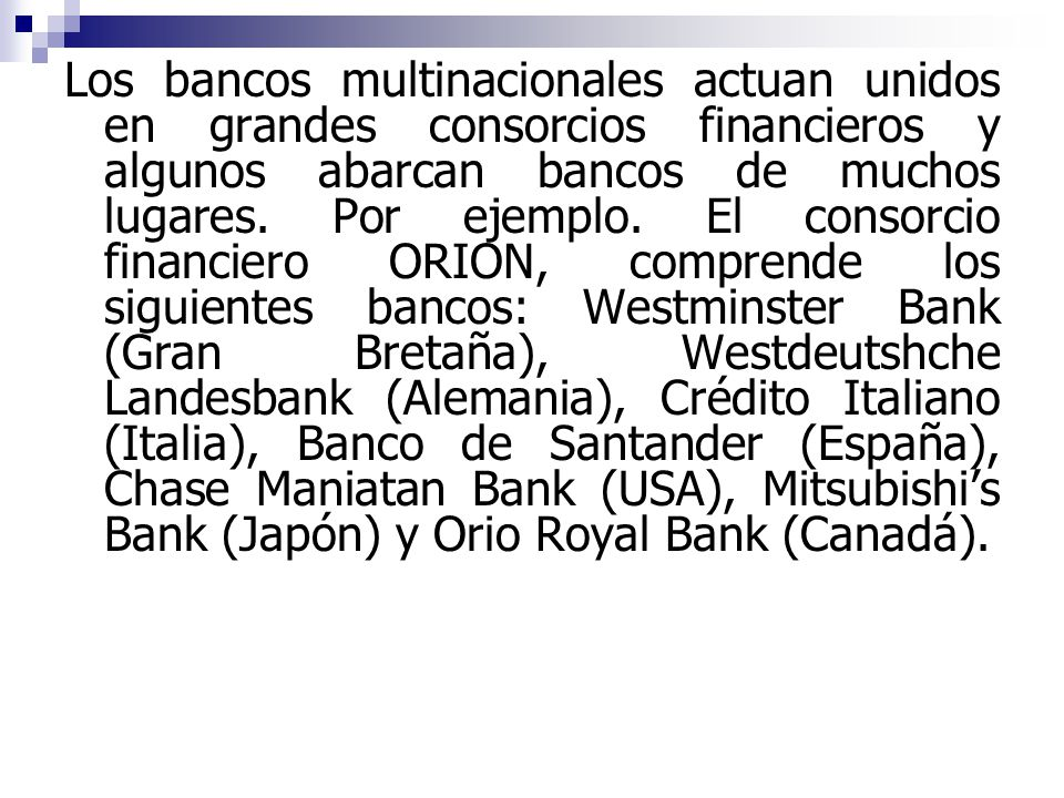 Introduccion a la mercadotecnia mundia la globalizacion for Sucursales banco santander en roma italia