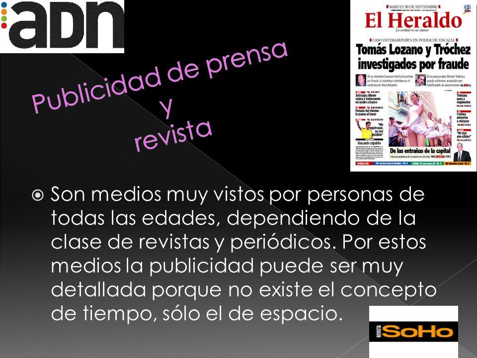 Publicidad de prensa y revista