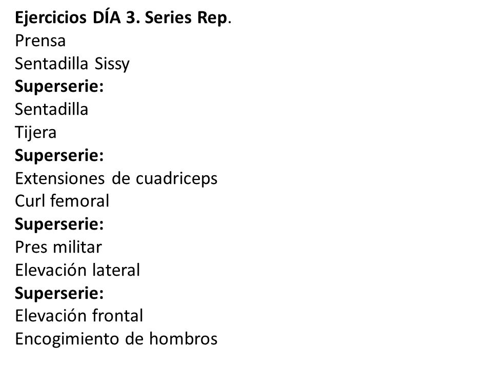 Ejercicios DÍA 3. Series Rep.