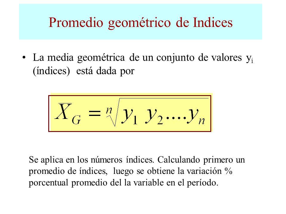 Promedio geométrico de Indices