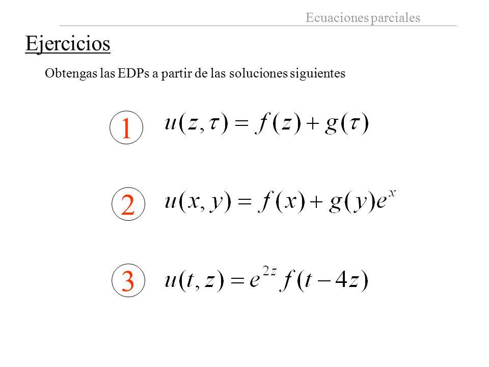 Ejercicios Obtengas las EDPs a partir de las soluciones siguientes 1 2 3