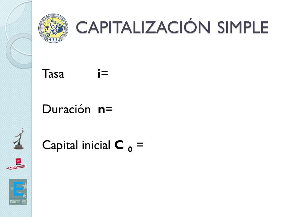 CAPITALIZACIÓN SIMPLE