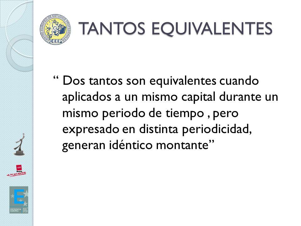 TANTOS EQUIVALENTES