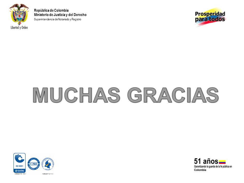 MUCHAS GRACIAS República de Colombia