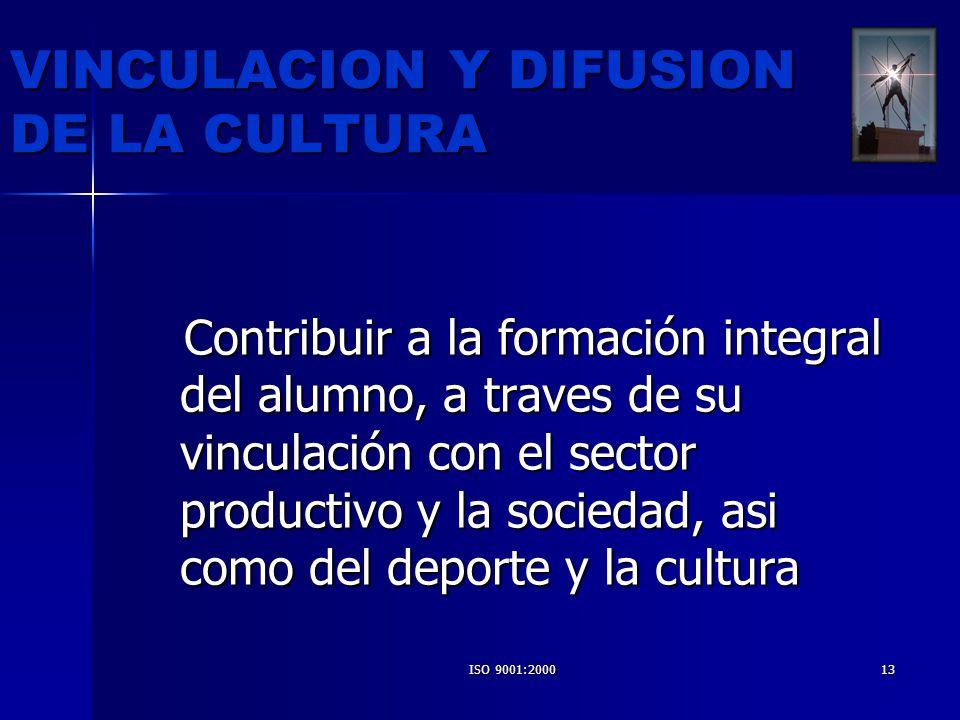 VINCULACION Y DIFUSION DE LA CULTURA