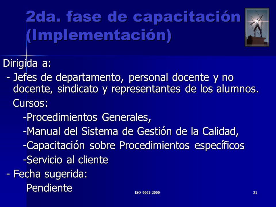 2da. fase de capacitación (Implementación)