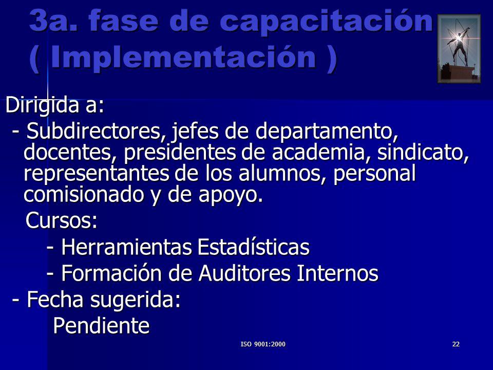 3a. fase de capacitación ( Implementación )