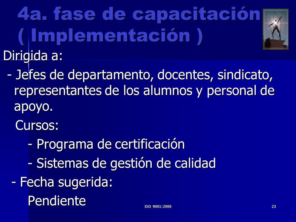 4a. fase de capacitación ( Implementación )