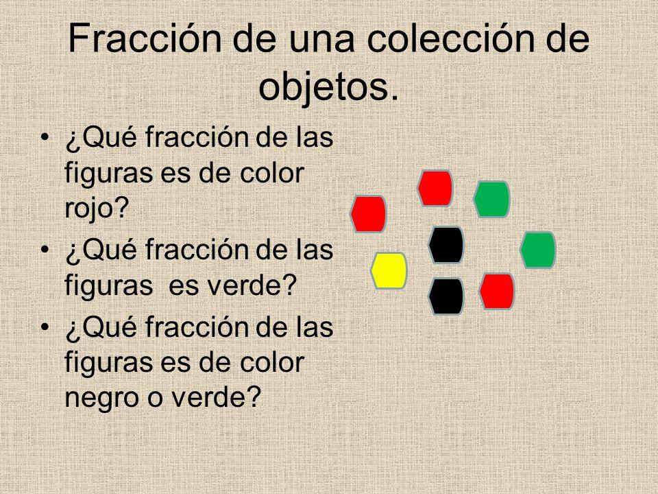 Fracción de una colección de objetos.