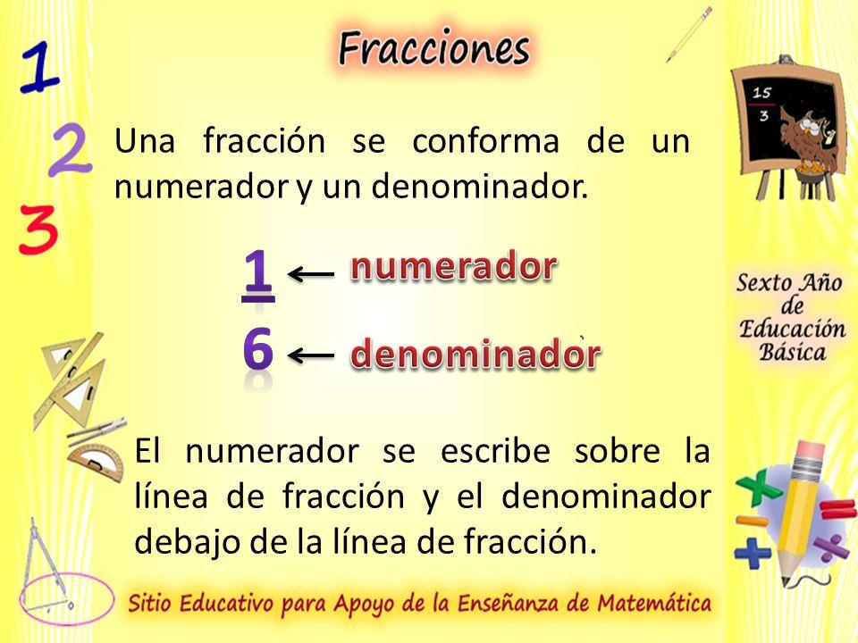 1 6 numerador denominador