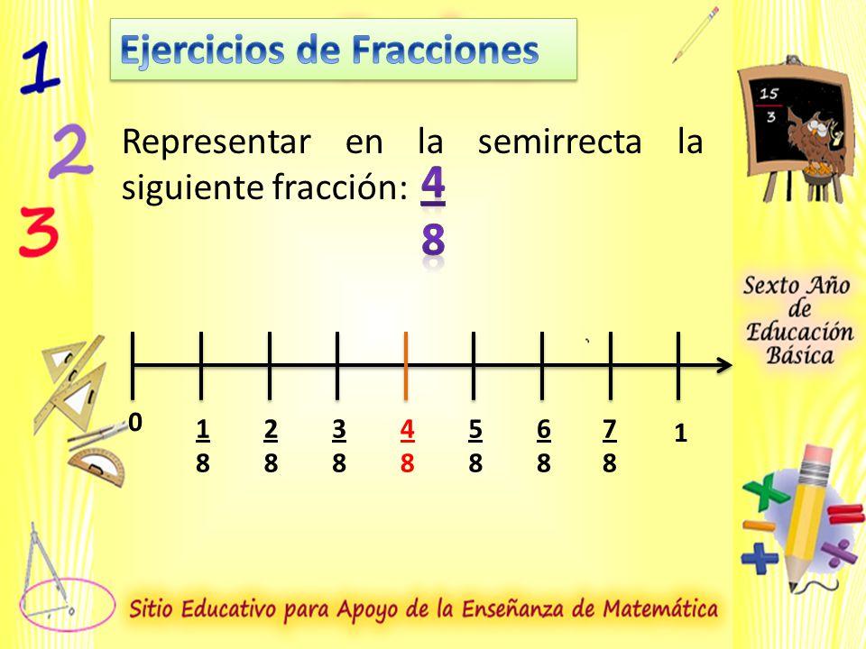 4 8 Ejercicios de Fracciones