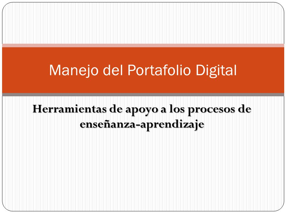 Manejo del Portafolio Digital