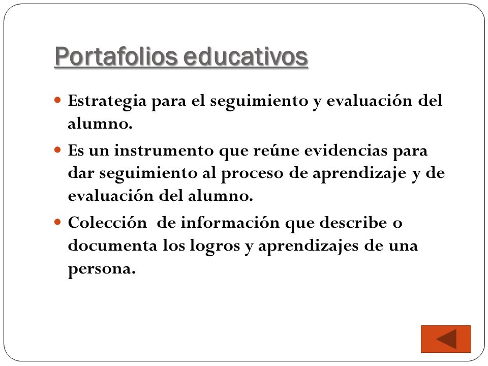 Portafolios educativos