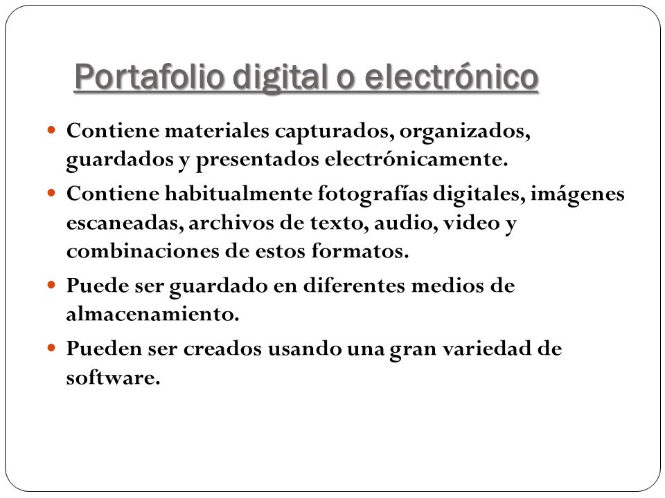 Portafolio digital o electrónico
