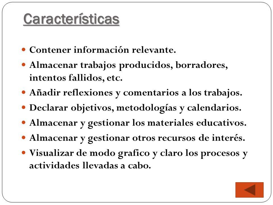 Características Contener información relevante.
