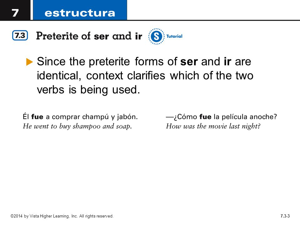 In Lección 6, you learned how to form the preterite tense of ...