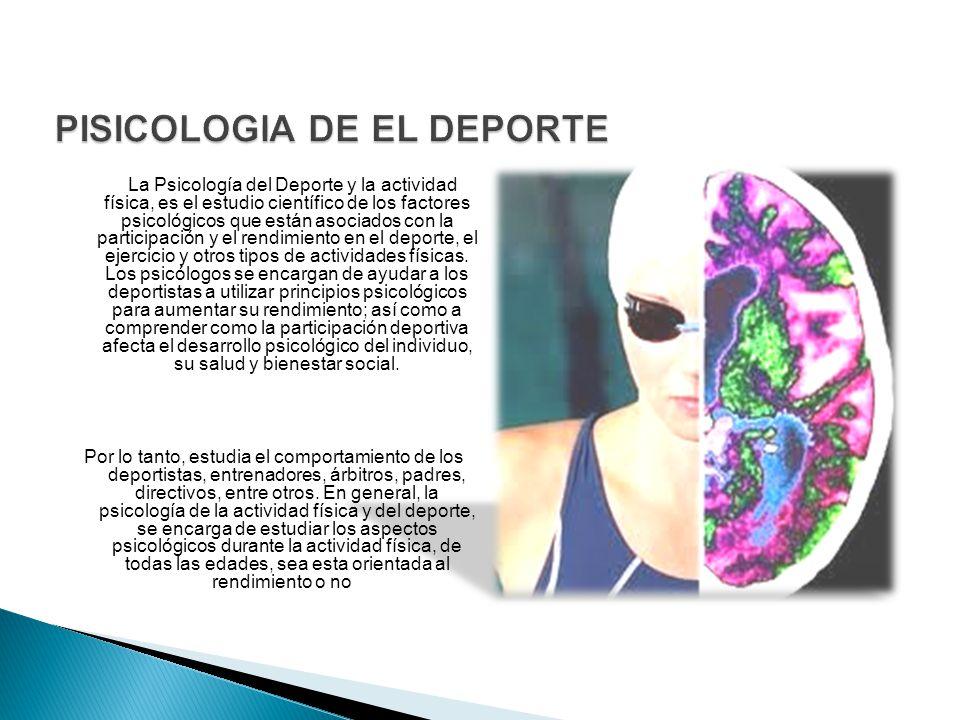 PISICOLOGIA DE EL DEPORTE