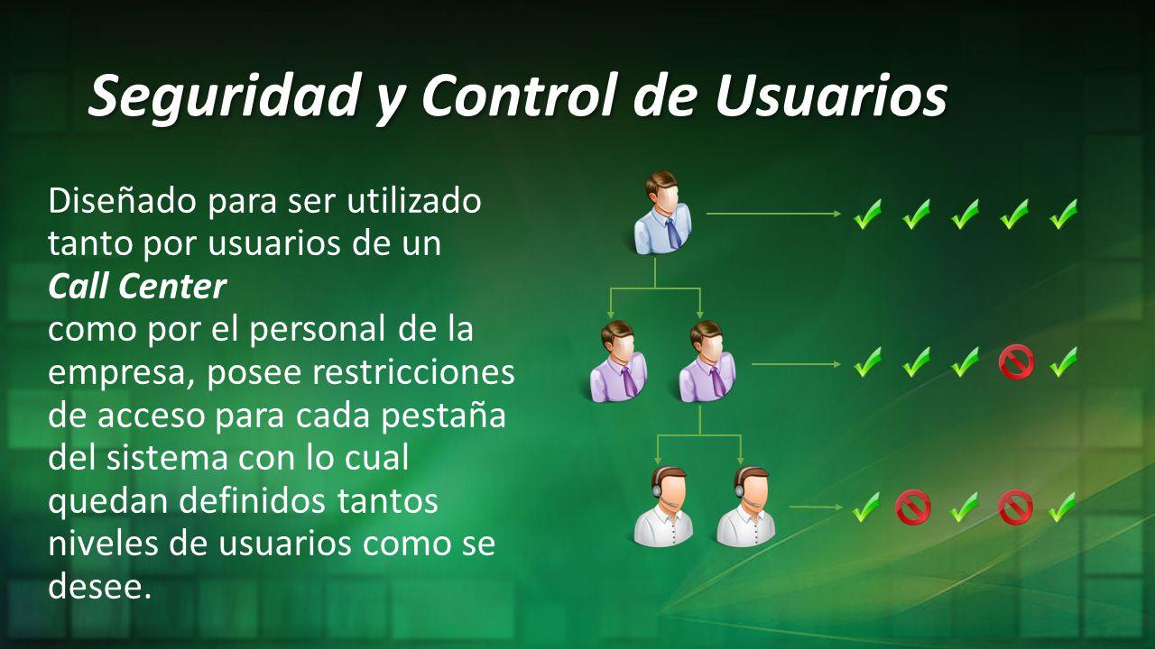 Seguridad y Control de Usuarios