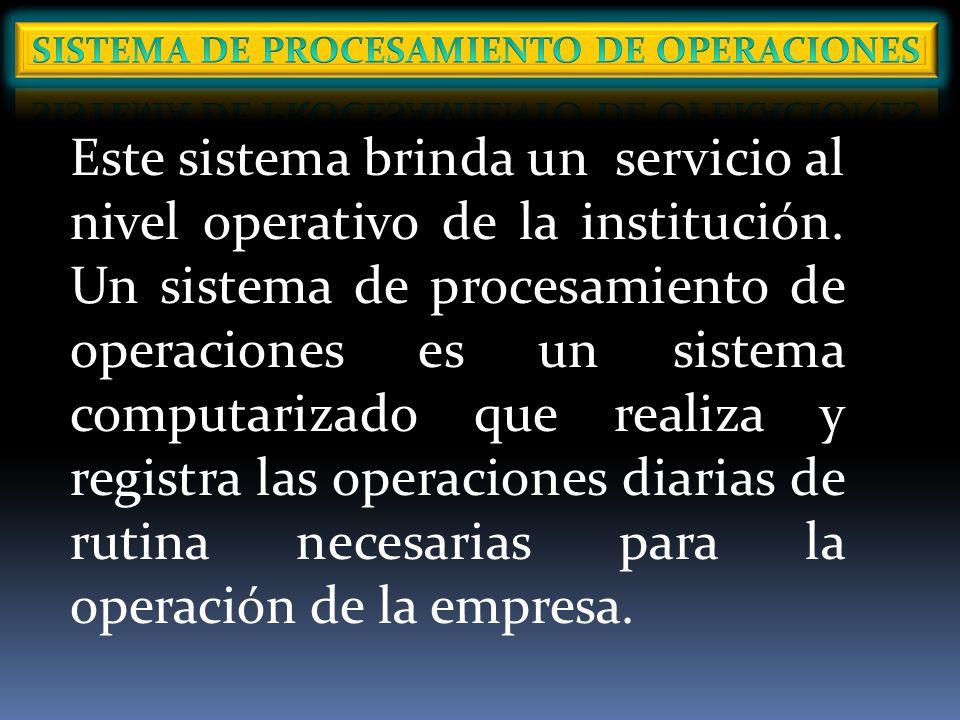SISTEMA DE PROCESAMIENTO DE OPERACIONES
